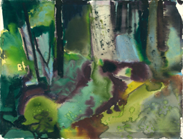 Willi Ulfig: Waldlandschaft