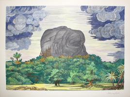 Fabius von Gugel: Der Fels von Sigirya bei Tag