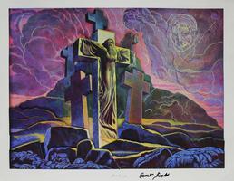 Ernst Fuchs: Montserrat mit Erscheinung