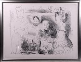 Pablo Picasso: Portrait de famille, homme aux bras croisés 21.6.1962; Mougins