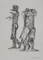 Fritz Wotruba: Zwei stehende Figuren