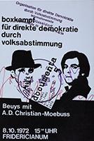 Joseph Beuys (und A.D.Christian-Moebuss): Boxkampf für direkte Demokratie durch Volksabstimmung