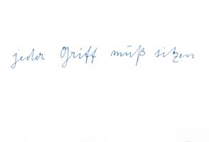 Joseph Beuys: jeder Griff muss sitzen