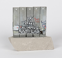 Banksy: Wall Section (Make Hummus Not Walls)