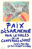 Pablo Picasso: Frieden - Abrüstung für den Erfolg der Spitzenkonferenz