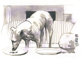 Per Gernhardt: Fressender Hund