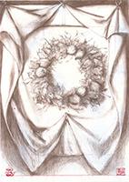 Per Gernhardt: Tuch mit Blumenkranz