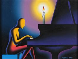 Mark Kostabi: The Pianist (Nightwalk)