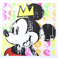 Ben Allen: King Mickey with Basquiat Crown No. 2