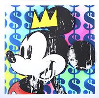 Ben Allen: King Mickey with Basquiat Crown No. 5