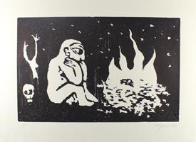 A.R. Penck: Sitzender am Feuer