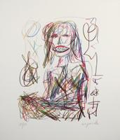 A.R. Penck: Sitzende Frau