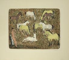 Hermann Teuber: Pferde