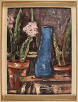 H. Busch: Stilleben mit blauer Vase