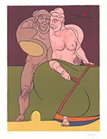 Valerio Adami: Picasso et la femme neo-classique