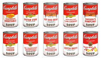 Andy (after) Warhol: Campbell´s soup