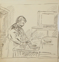 A.R. Penck: In der Küche