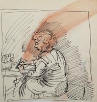 A.R. Penck: Beim Briefe schreiben