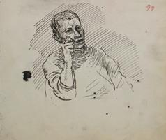 A.R. Penck: Männerpotrait