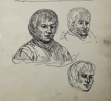 A.R. Penck: Frauenportraits