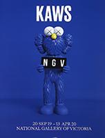 KAWS: NGV Melbourne blue