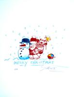 Wilhelm Schlote: Merry Christmas Weihnachten im Schnee