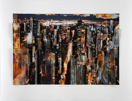 Gottfried Salzmann: Manhattan bei Nacht