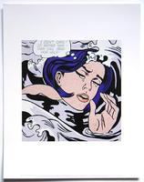 Roy Lichtenstein: drowing girl