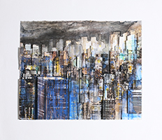 Gottfried Salzmann: Skyline at night