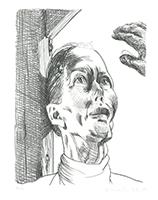 Johannes Grützke: Hedwig mit der Hand vom Kreuz