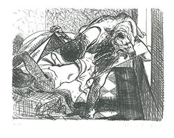 Johannes Grützke: Sie entblößt den Gast beim Schlaf