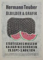Hermann Teuber: Ausstellungsplakat von 1974: Hermann Teuber Ölbilder & Grafik