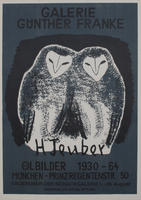 Hermann Teuber: Ausstellungsplakat: H Teuber Ölbilder 1930-64