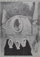 Hermann Teuber: Ausstellungsplakat von 1974: Hermann Teuber - Ölbilder