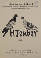 Hermann Teuber: Ausstellungsplakat von 1964: Ölbilder