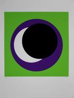 Geneviève Claisse: Cercle noir/vert