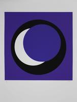 Geneviève Claisse: Cercle bleu/blanc