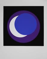 Geneviève Claisse: Cercle bleu/lilas