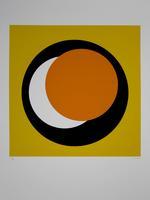 Geneviève Claisse: Cercle orange/noir