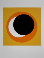 Geneviève Claisse: Cercle noir/orange
