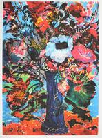 Ernst Fuchs: Bunter Blumenstrauß