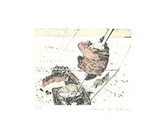 Johannes Grützke: Hauke Trinks ist auf den Mast seines Schiffes geklettert, um von dort aus zu erkunden, ob außer Eisbären vielleicht auch bereits offes Wasser in der Ferne sich aufgetan hat