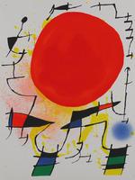 Joan Miró: Le Soleil rouge