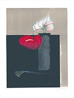 Paul Wunderlich: Vase mit zwei Anthurien
