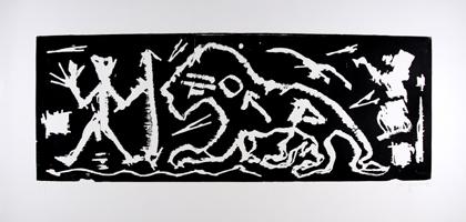 A.R. Penck: 3 Frauen mit Dämon