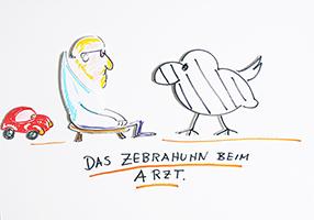 Helge Schneider: Das Zebrahuhn beim Arzt