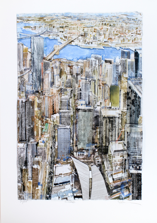Gottfried Salzmann: New York - East River - Deluxe