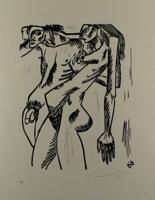 Ernst Fuchs: Adam und Eva - Aus: Kataklysmen