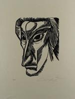Ernst Fuchs: Selbstportrait - Aus: Kataklysmen