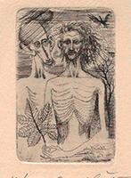 Ernst Fuchs: Christus und Johannes der Täufer